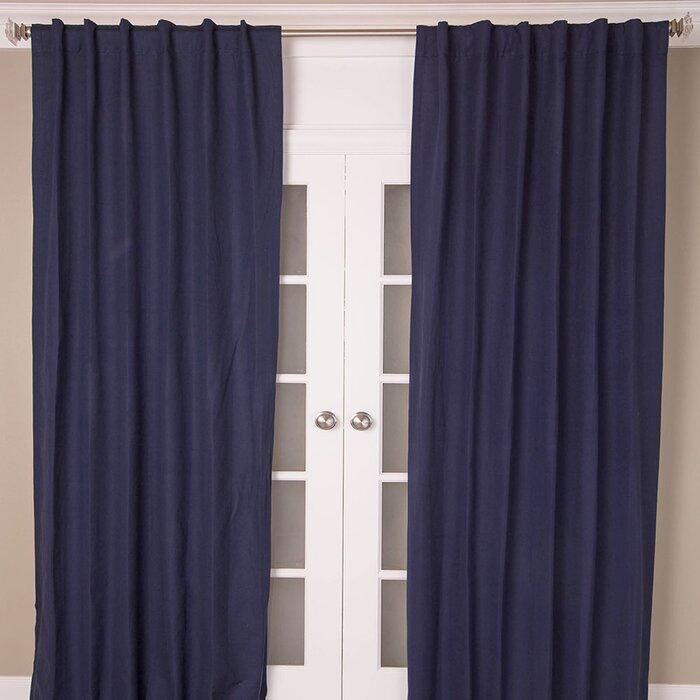Hayden Solid Blackout Rod Pocket Single Curtain Panel Within Hayden Rod Pocket Blackout Panels (Image 15 of 25)