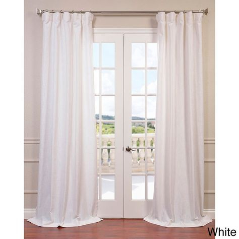 Heavy Faux Linen Single Curtain Panel | Home | Linen Pertaining To Heavy Faux Linen Single Curtain Panels (Image 13 of 25)
