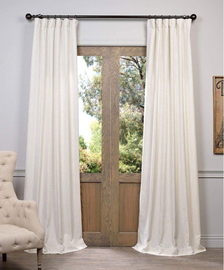 Here's Exactly How Joanna Gaines Created Her Dreamy Master Inside Faux Linen Extra Wide Blackout Curtains (View 7 of 25)