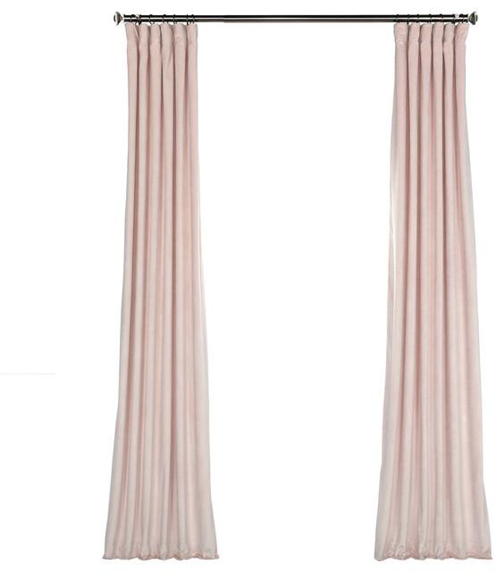 "Heritage Plush Velvet Curtain Single Panel, Ballet Pink, 50""x96"" Regarding Heritage Plush Velvet Curtains (Image 14 of 25)"
