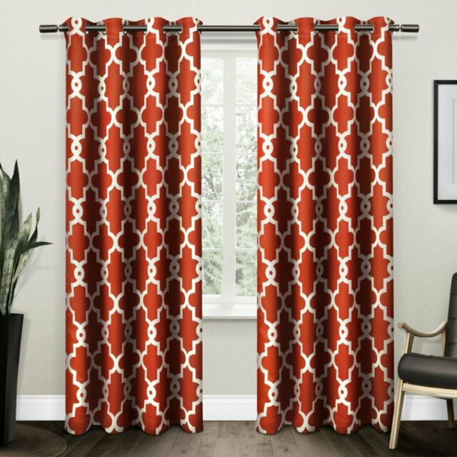 Home Ironwork Sateen Woven Blackout Grommet Top Curtain Panel Pair, 2 Inside Woven Blackout Grommet Top Curtain Panel Pairs (Image 16 of 25)