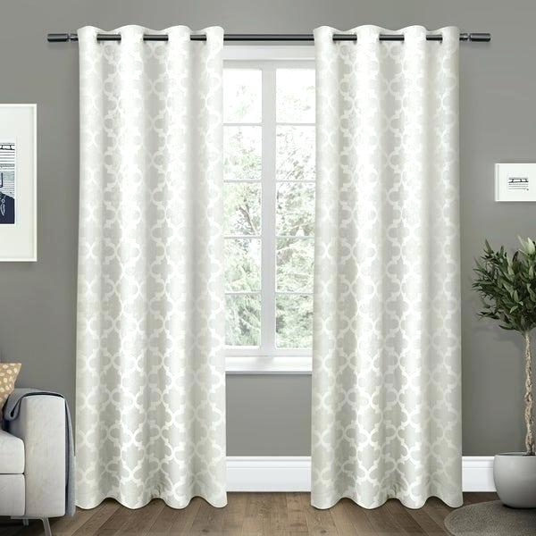 Home Woven Blackout Curtain Panel Pair With Grommet Top For Woven Blackout Grommet Top Curtain Panel Pairs (Image 17 of 25)