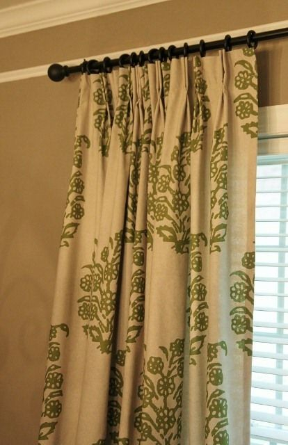 How To Add Pinch Pleats To Store Bought Rod Pocket Drapes Regarding Double Pinch Pleat Top Curtain Panel Pairs (Image 10 of 25)