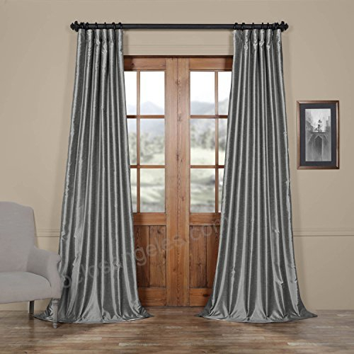 Hpd Half Price Drapes Half Price Drapes Pdch Kbs7 84 Vintage Intended For Vintage Textured Faux Dupioni Silk Curtain Panels (Image 21 of 25)
