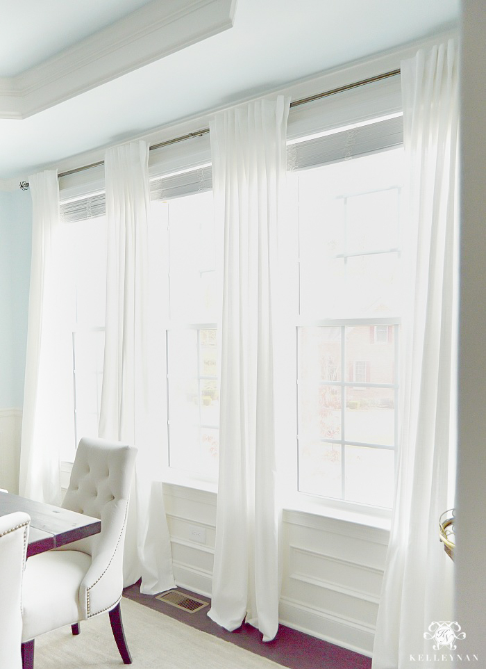 Ikea Ritva Drapes: The Best Inexpensive White Curtains With Heavy Faux Linen Single Curtain Panels (Image 14 of 25)