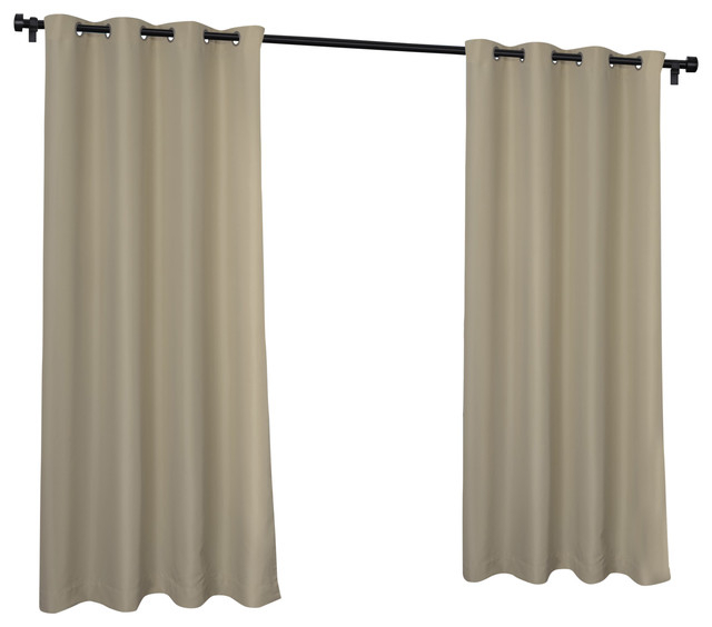 Indoor/outdoor Cabana Grommet Top Window Curtain Panel Pair, 54X120, Taupe In Delano Indoor/outdoor Grommet Top Curtain Panel Pairs (Image 20 of 25)