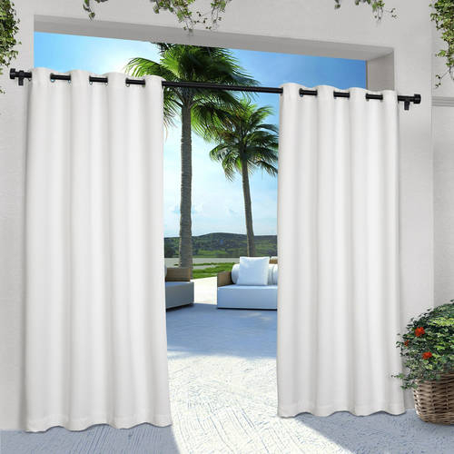 Indoor/outdoor Solid Cabana Grommet Top Window Curtain Panel With Regard To Delano Indoor/outdoor Grommet Top Curtain Panel Pairs (Image 21 of 25)