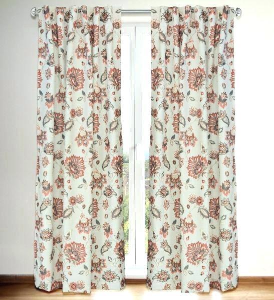 Jacobean Curtains Regarding Jacob Tab Top Single Curtain Panels (Image 10 of 25)