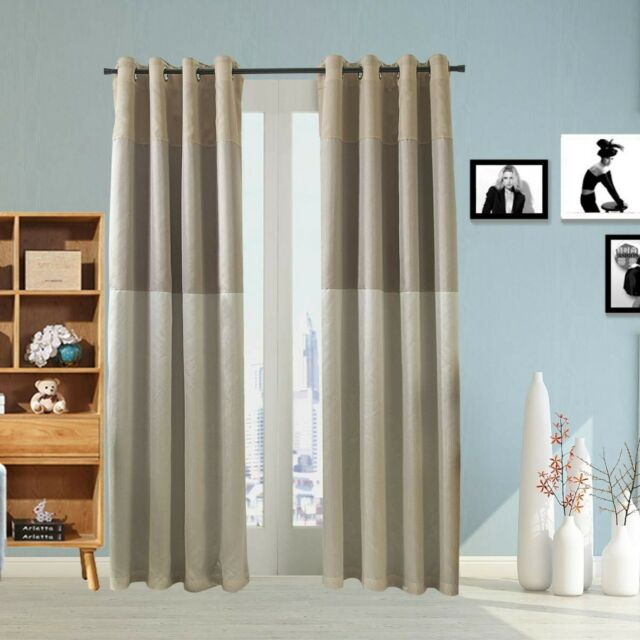 Jarl Home Woven Blackout Window Curtain Panel Pair With Grommet Top  (5210 New Within Woven Blackout Grommet Top Curtain Panel Pairs (Image 19 of 25)