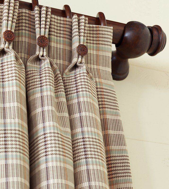 Featured Image of Linen Button Window Curtains Single Panel