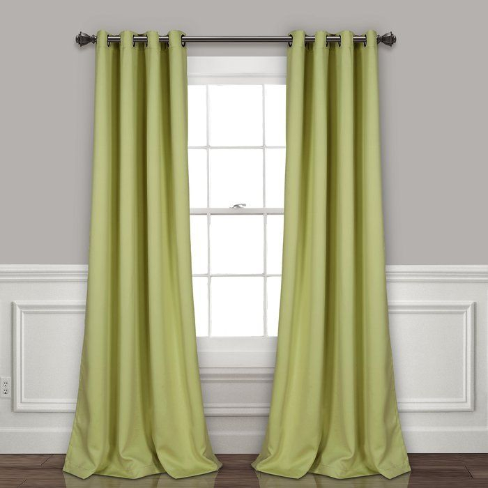Ketterman Solid Thermal Blackout Grommet Window Panel Pair For Julia Striped Room Darkening Window Curtain Panel Pairs (Image 11 of 25)