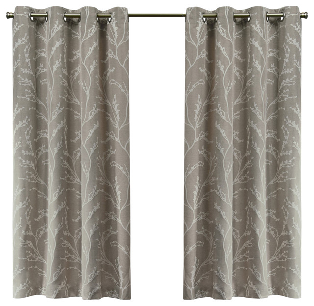 Kilberry Woven Blackout Grommet Top Window Curtain Panel Pair, 52X63,  Natural In Julia Striped Room Darkening Window Curtain Panel Pairs (Image 12 of 25)