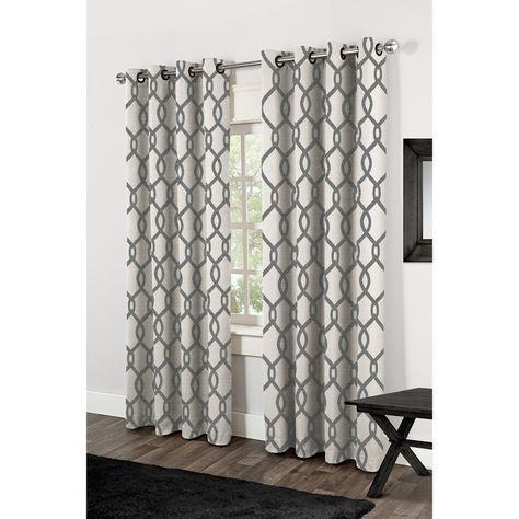 """Kochi Linen Blend Grommet Top Curtain Panel Pair 84"""" (As Is Regarding Kochi Linen Blend Window Grommet Top Curtain Panel Pairs (Image 22 of 25)"""