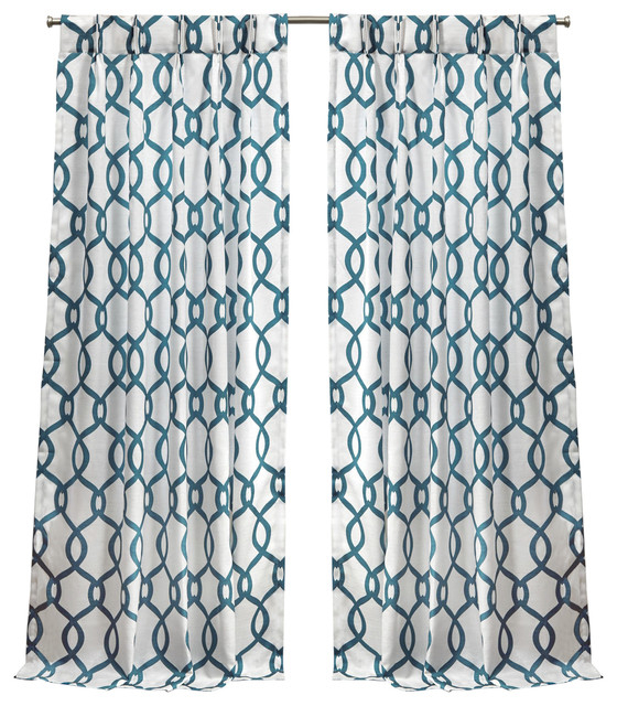 "Kochi Linen Blend Pinch Pleat Curtain Panel Pair, Teal, 84"" For Kochi Linen Blend Window Grommet Top Curtain Panel Pairs (View 10 of 25)"