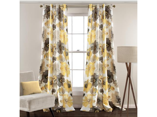 Leah Room Darkening Window Curtain Panels Coral/gray 52X95 Set – Newegg For Dolores Room Darkening Floral Curtain Panel Pairs (Image 9 of 25)