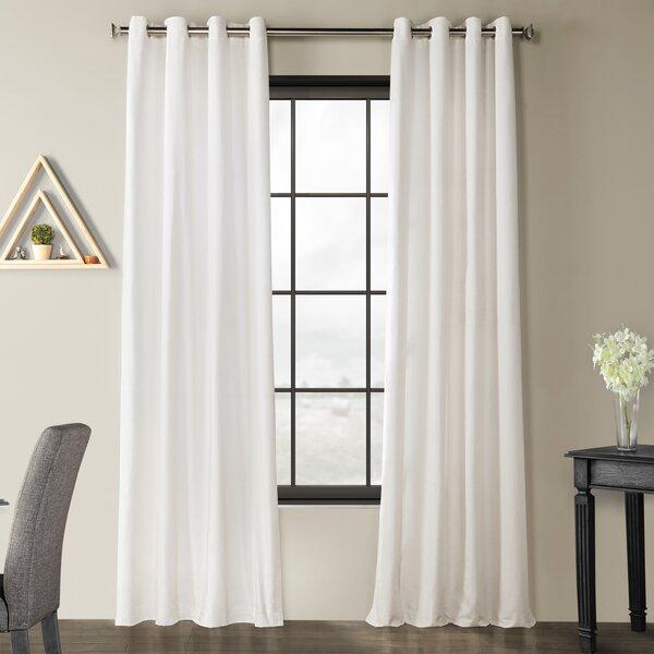 Linen Cotton Curtains | Wayfair Regarding Linen Button Window Curtains Single Panel (View 12 of 25)