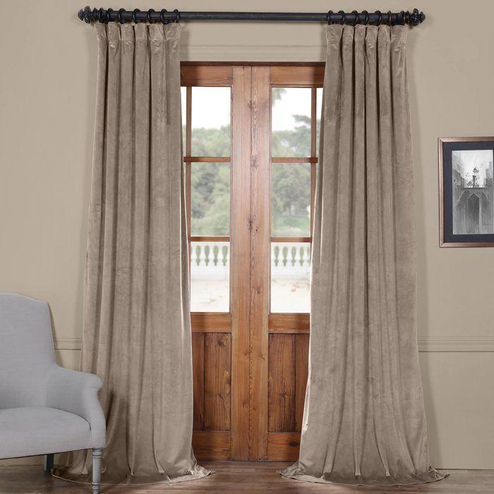 Livia Riverton Solid Heritage Plush Velvet Rod Pocket Single Pertaining To Heritage Plush Velvet Single Curtain Panels (Image 12 of 25)