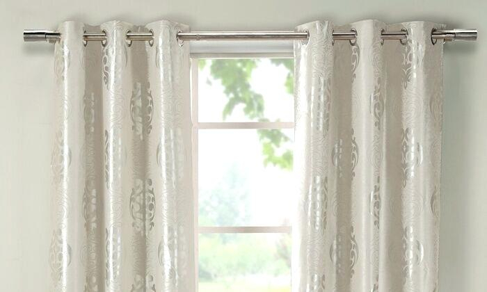 Love This Product Taupe Blackout Curtain Set Of Two Curtains Pertaining To Overseas Faux Silk Blackout Curtain Panel Pairs (View 24 of 25)