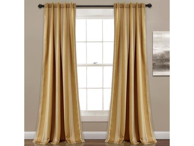 Featured Image of Julia Striped Room Darkening Window Curtain Panel Pairs