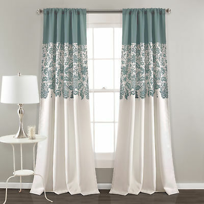 Lush Decor Lush Décor Weeping Flower Room Darkening Window With Regard To Weeping Flowers Room Darkening Curtain Panel Pairs (Image 14 of 25)