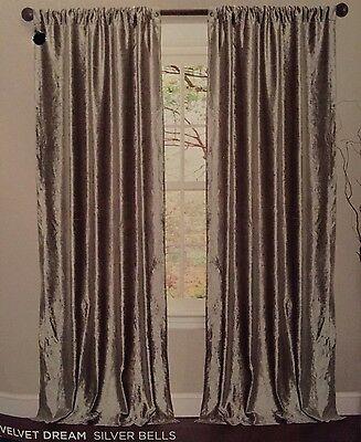 Lush Decor Velvet Dream Silver 84 Inch Curtain Panel Pair For Velvet Dream Silver Curtain Panel Pairs (Image 11 of 25)