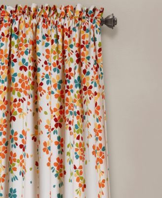 Lush Decor Weeping Flower Room Darkening Window Curtain Intended For Weeping Flowers Room Darkening Curtain Panel Pairs (Image 15 of 25)
