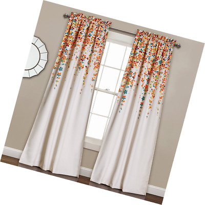 Lush Decor Weeping Flowers Room Darkening Window Panel Curtain 84 X 52  Inches 848742049884 | Ebay Pertaining To Weeping Flowers Room Darkening Curtain Panel Pairs (Image 17 of 25)