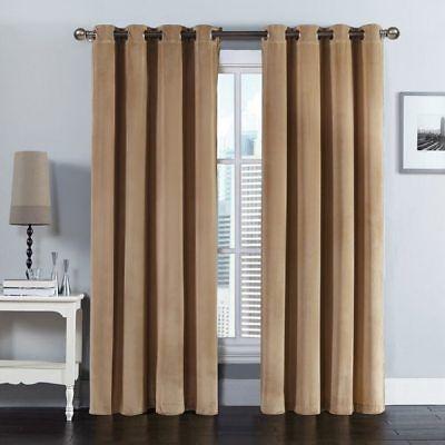 "Luxurious Velvet Grommet Top Curtain Panel 108""W X 84""L(Pair)   Ebay Regarding Velvet Heavyweight Grommet Top Curtain Panel Pairs (Image 15 of 25)"