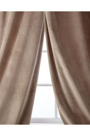 Luxury Curtains & Curtain Hardware At Neiman Marcus In Velvet Dream Silver Curtain Panel Pairs (Image 14 of 25)