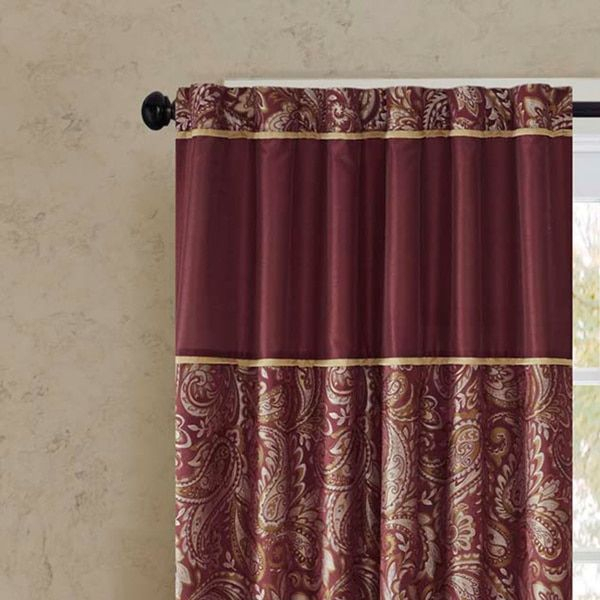 "Madison Park Whitman Curtain Panel Pair (50""w X 84""l – Blue Inside Whitman Curtain Panel Pairs (Image 15 of 25)"