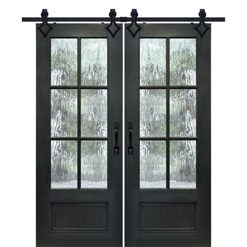 Mah 8 0 True Divided Lite Barn Door 2 In The Gray Barn Gila Curtain Panel Pairs (Image 11 of 25)