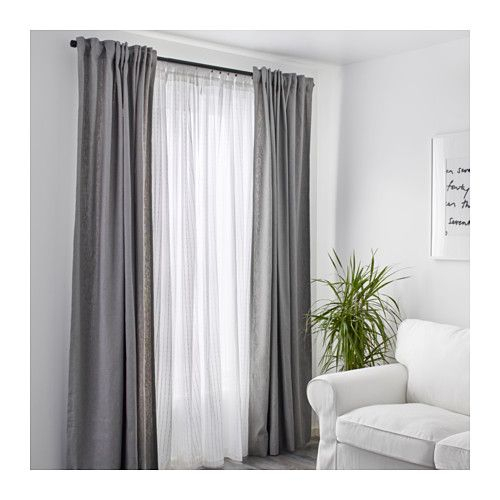 Matilda Sheer Curtains, 1 Pair – White | Curtains, Curtains Throughout Double Layer Sheer White Single Curtain Panels (Image 17 of 25)