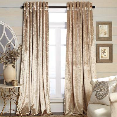 Metallic Velvet Curtain – Champagne … | Home Ideas | Gold For Velvet Dream Silver Curtain Panel Pairs (Image 16 of 25)