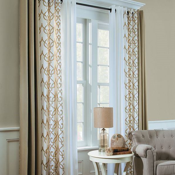 Mixing Curtains – Interesting | Window Treatments In 2019 Throughout Double Layer Sheer White Single Curtain Panels (Image 18 of 25)