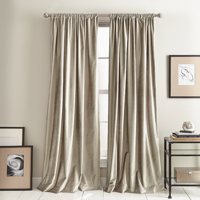 Modern Knotted Solid Room Darkening Rod Pocket Curtain With Velvet Dream Silver Curtain Panel Pairs (Image 17 of 25)