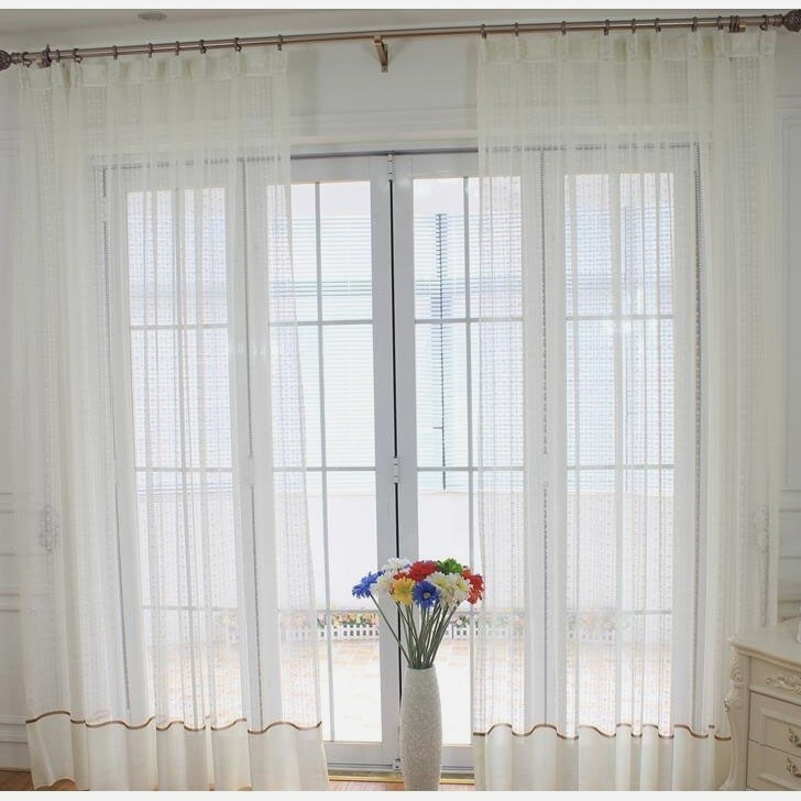 Modern Patterned Sheer Curtains – Eggplant Show (Image 14 of 25)