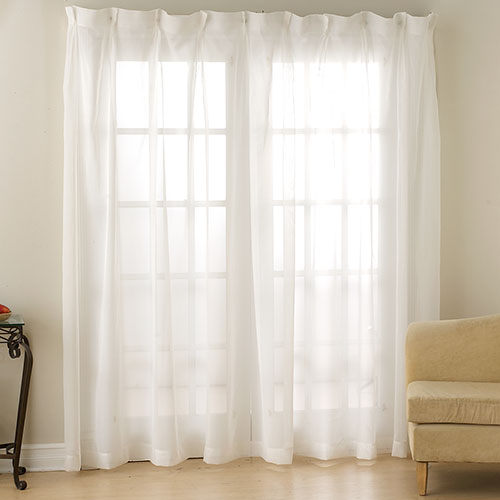 Monte Carlo Pinch Pleated Voile Drape Collection | Boscov's Inside Double Pinch Pleat Top Curtain Panel Pairs (Image 16 of 25)