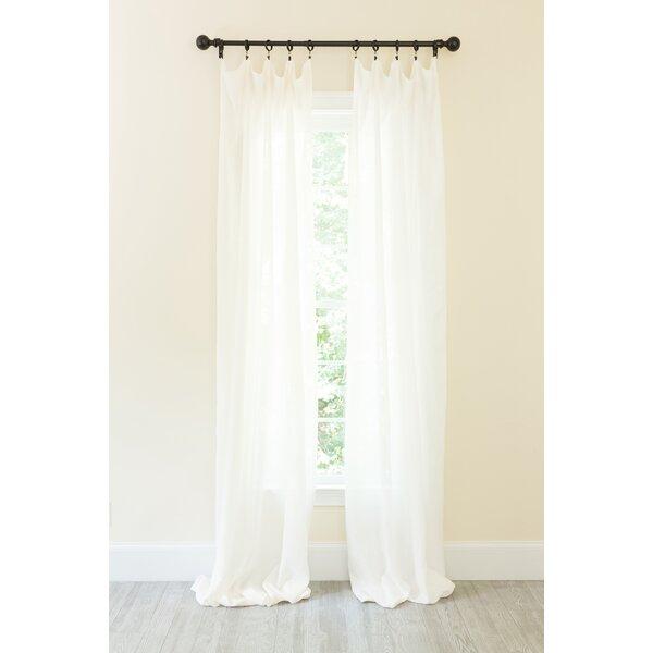 Natural Linen Curtains | Wayfair For Linen Button Window Curtains Single Panel (View 5 of 25)