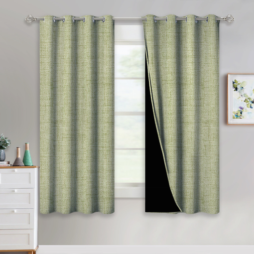 Nicetown Country Style Faux Linen Knitting Pattern Full With Regard To Faux Linen Extra Wide Blackout Curtains (View 13 of 25)