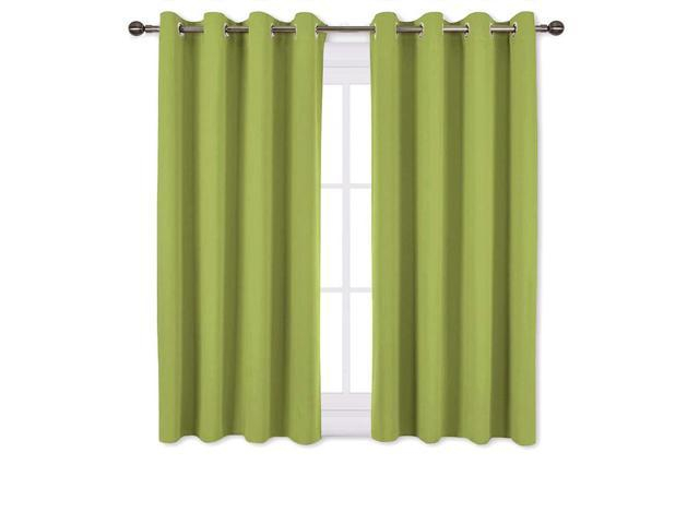 Nicetown Green Blackout Curtains For Windows – Home Decor Thermal Insulated Solid Grommet Top Blackout Curtains/panels/drapes For Kid's Room (1 Pair, With Thermal Insulated Blackout Grommet Top Curtain Panel Pairs (View 14 of 25)