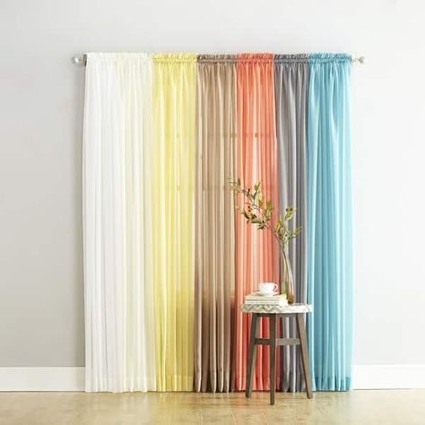 Featured Image of Emily Sheer Voile Single Curtain Panels