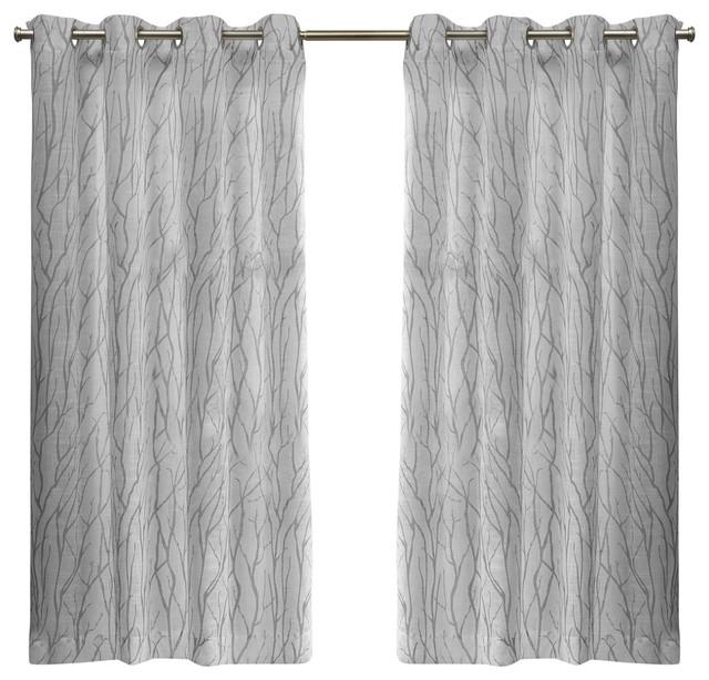 Oakdale Grommet Top Window Curtain Panel Pair, 54X63, Silver In Wilshire Burnout Grommet Top Curtain Panel Pairs (View 7 of 25)