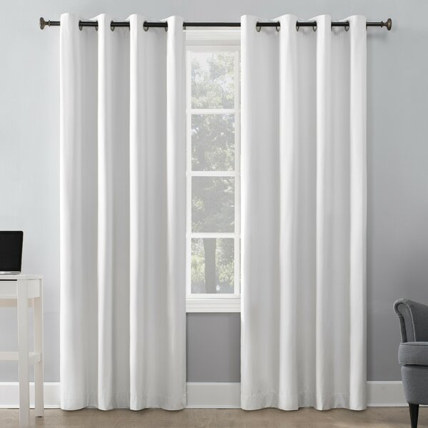 Featured Image of Davis Patio Grommet Top Single Curtain Panels