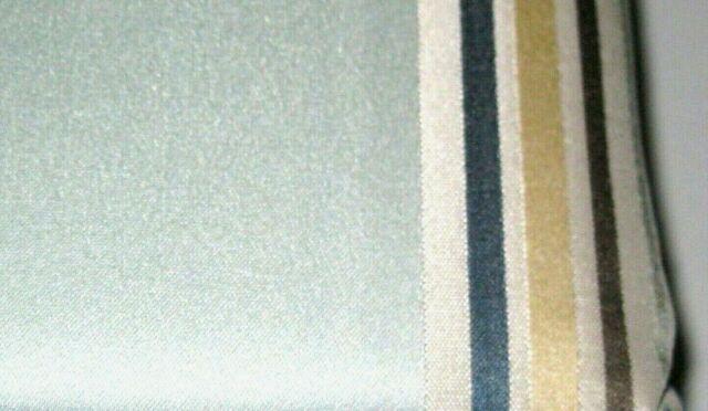 One Allen + Roth Northfield Aqua Stripe Tan Blue Thermal Panel Drape  Curtain 84L Regarding Valencia Cabana Stripe Indoor/outdoor Curtain Panels (Image 10 of 25)