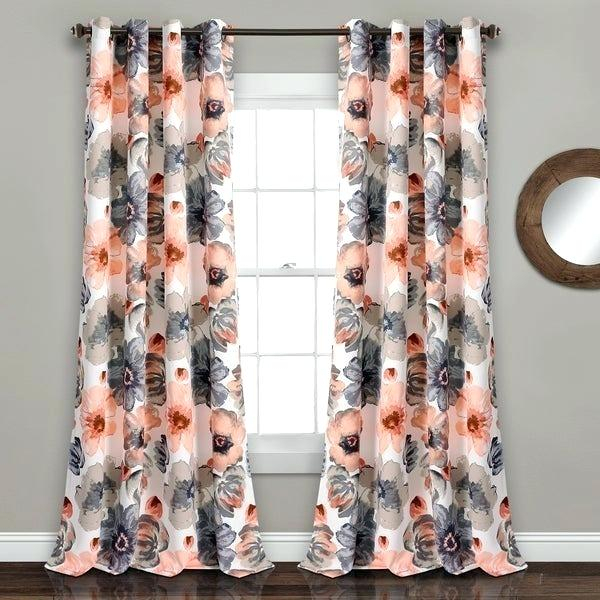 Orange Floral Curtains – Mindhigh (Image 19 of 25)