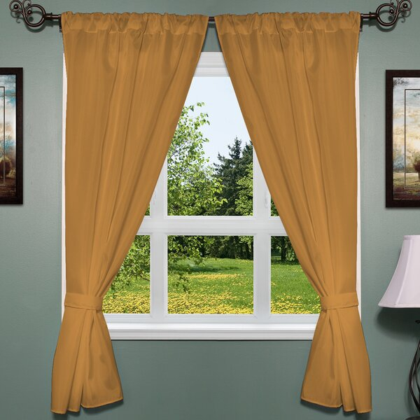 Orange Window Treatments | Wayfair With Regard To Classic Hotel Quality Water Resistant Fabric Curtains Set With Tiebacks (View 5 of 25)