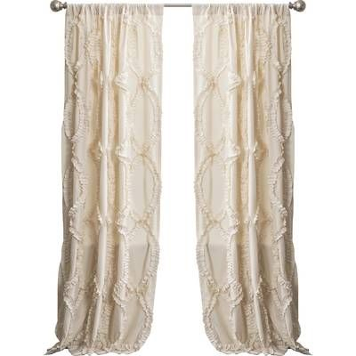 Oropeza Solid Sheer Rod Pocket Single Curtain Panel In 2019 In Vue Elements Priya Tab Top Window Curtains (Image 20 of 25)