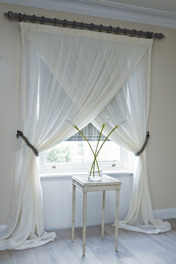 Overlapping Sheer Panelsunique Way To Hang Curtains With Regard To Double Layer Sheer White Single Curtain Panels (Image 19 of 25)