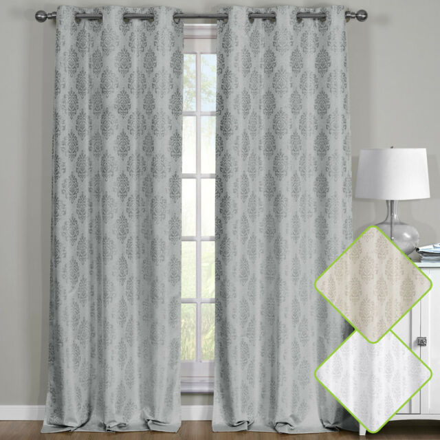 Paisley Thermal Blackout Curtain Panels Grommet Top Window Jacquard Curtain Pair Pertaining To Thermal Insulated Blackout Curtain Pairs (View 3 of 25)