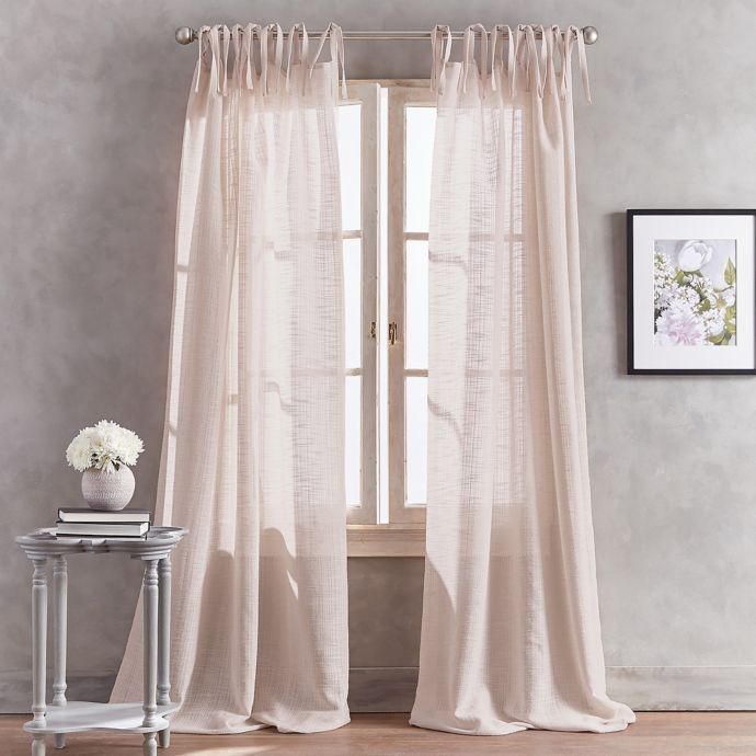 Peri Home Kelly Tab Top Window Curtain Panel | Bed Bath Pertaining To The Gray Barn Gila Curtain Panel Pairs (Image 15 of 25)
